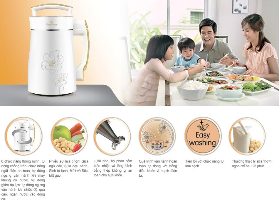 Máy có 6 chức năng tự động, thông minh mang lại sự an toàn, tiện ích, hoàn hảo cho không gian nhà bếp của bạn