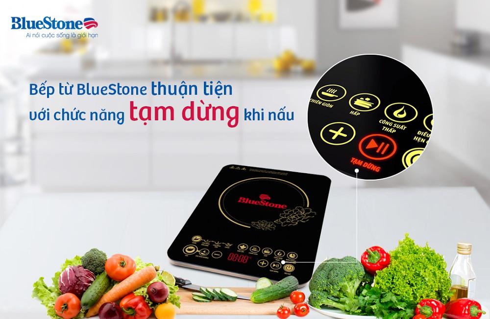 Bếp có nút tạm dừng tiện dung hơn khi nấu