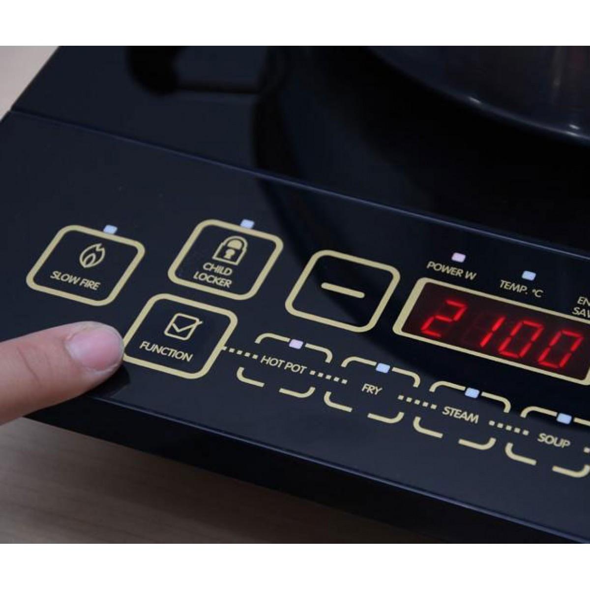 Bếp vận hành với bộ điều khiển cơ bền, dễ sử dụng