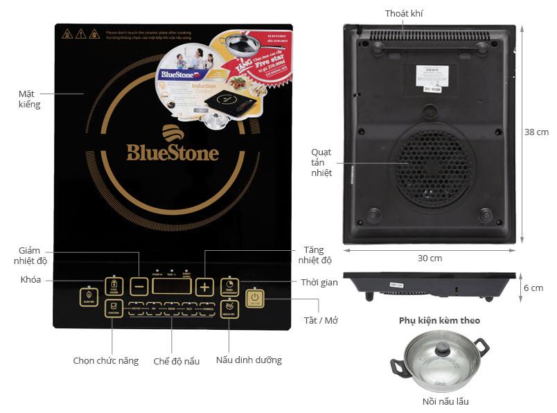 Cấu tạo chi tiết các bộ phận của bếp từ BlueStone ICB 6616 loại tốt