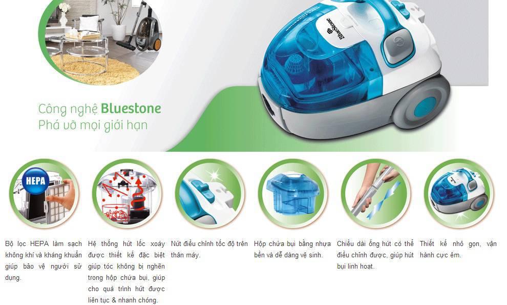 Ưu điểm vượt trội của máy hút bụi BlueStone