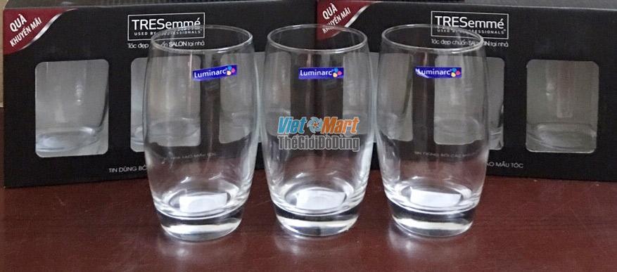 Tặng bộ ly thủy tinh Luminarc 3 chiếc