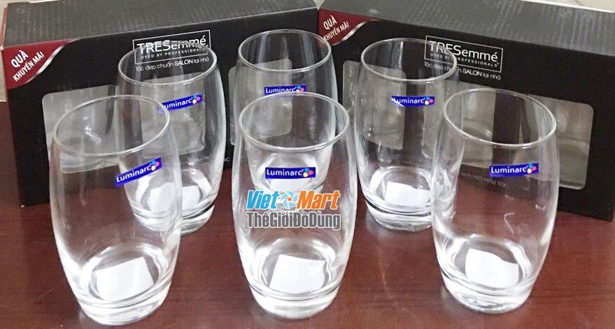 Tặng bộ ly thủy tinh 6 chiếc Luminarc