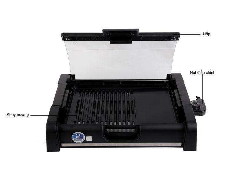 Cấu tạo chi tiết các bộ phận của bếp nướng điện không khói BlueStone EGB 7455 cao cấp