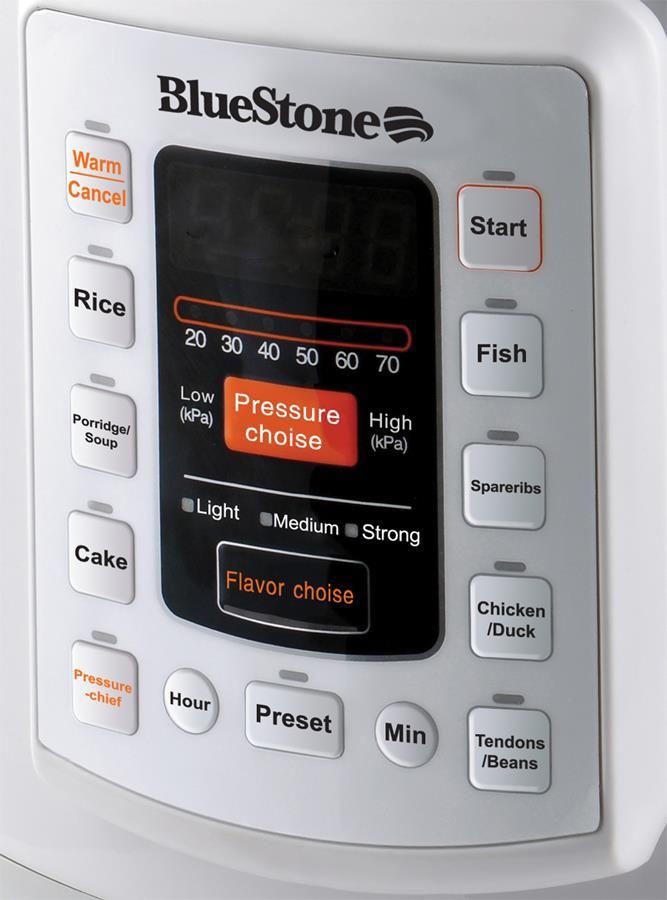 Nồi áp suất điện tử Bluestone PCB-5756D bảng điều khiển điện tử