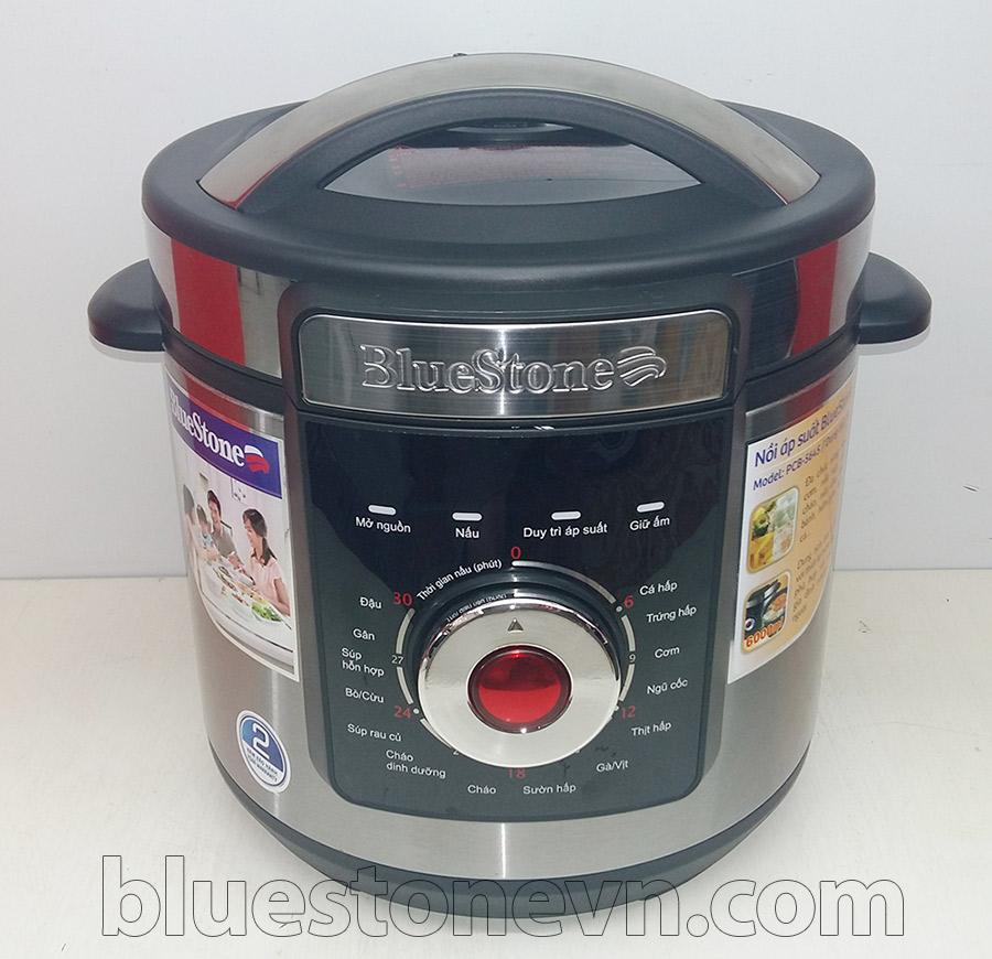Nồi áp suất điện Bluestone PCB 5645 với núm vặn chọn chế độ và tự đông cài đặt thời gian nấu