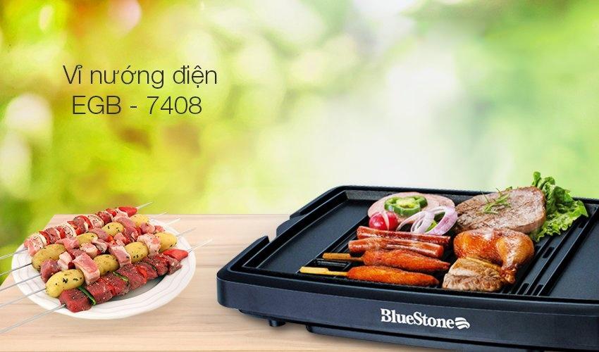 Bếp nướng điện không khói BlueStone EGB 7408 loại tốt, mặt nướng phủ Ceramic, bảo hành 24 tháng