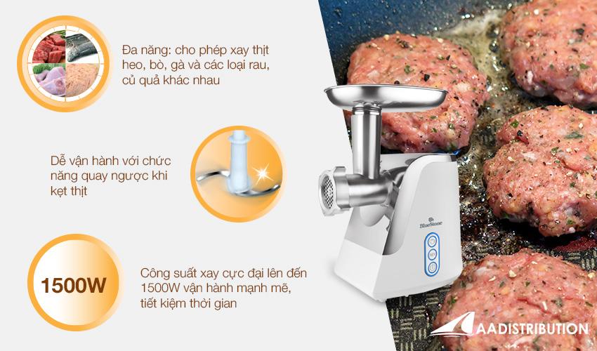 Ưu điểm vượt trội của máy say thịt BlueStone đa chức năng