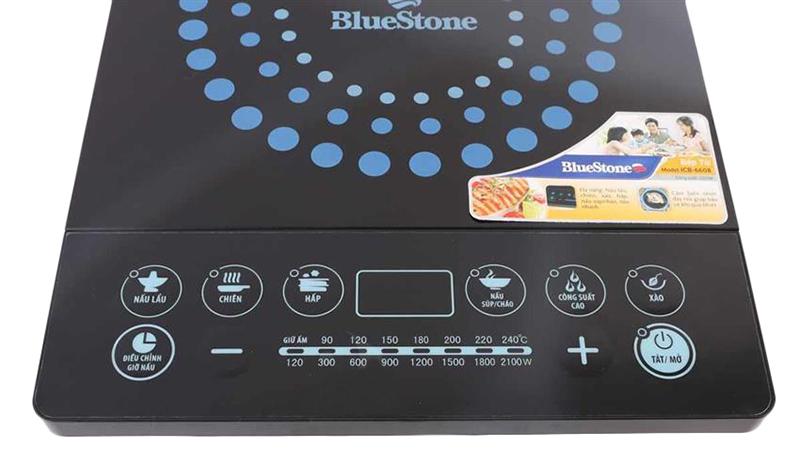 Bảng điều khiển cơ của bếp từ BlueStone ICB 6608 bền, dễ dàng sử dụng