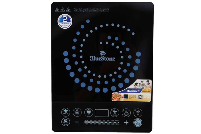 Bếp từ BlueStone sử dụng mặt kính Ceramic an toàn, chịu được nhiệt độ, và trọng lượng cao