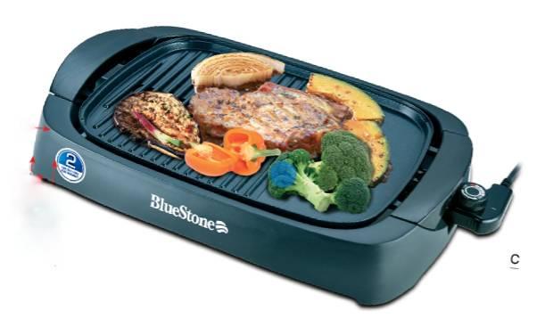 Bếp nướng điện không khói BlueStone EGB-7411 chính hãng dòng trung cao cấp chất lượng cao, công suất 2000W, dễ dàng tháo rời vệ sinh.
