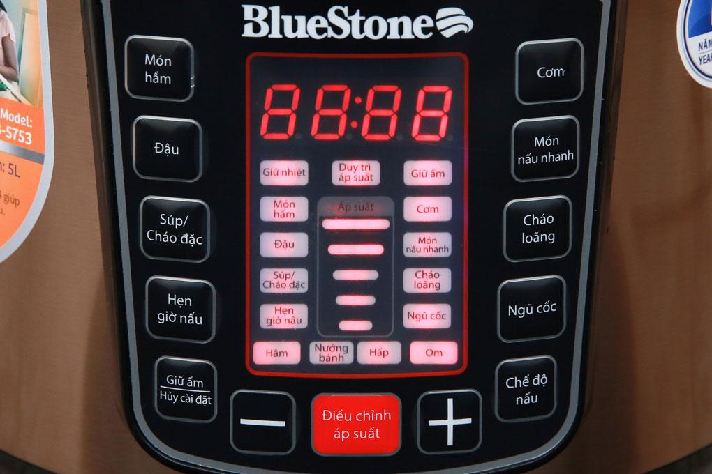 Nồi áp suất điện BlueStone PCB 5753 điều khiển điện tử, đa chức năng