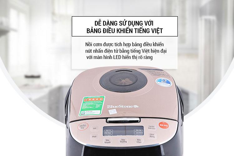Nồi áp suất điện BlueStone RCB-5939 điều kiển điện tử hoàn toàn bằng tiếng Việt