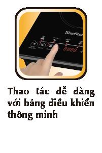 điều khiển dễ dàng bằng phím cảm ứng